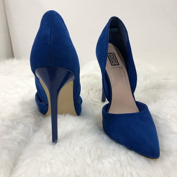 43ca6adf5e8 Justfab Amandalyn Pumps High Heel Shoes Cobalt NWT